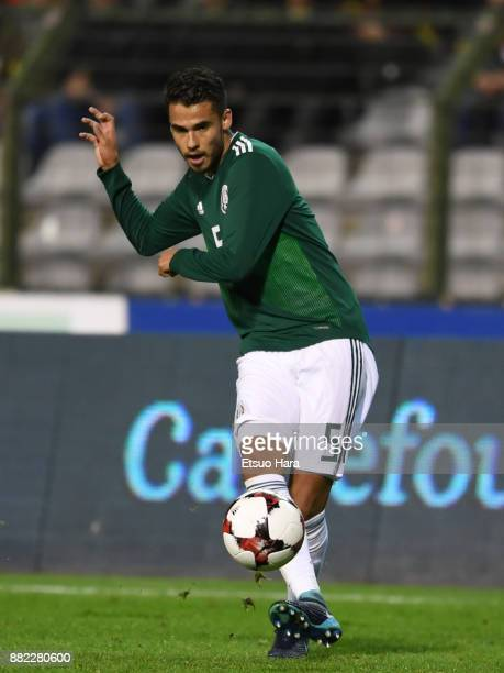 Diego Reyes of Mexico in action during the international friendly match between Belgium and Mexico at King Baudouin Stadium on November 10 2017 in...