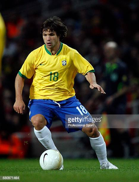 Diego Ribas da Cunha of Brazil in action during the Brazil v Portugal International Friendly match at the Emirates Stadium London on 6th February 2007