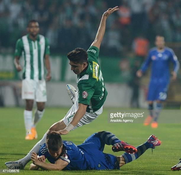 Diego Ribas da Cunha of Fenerbahce in action during the Ziraat Turkish Cup football match between Bursaspor and Fenerbahce at Bursa Ataturk Stadium...