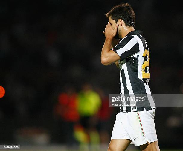 Diego Ribas da Cunha of Juventus FC shows is dejection during the pre season friendly match between Juventus FC and Olimpic Lyon at Stadio San Vito...