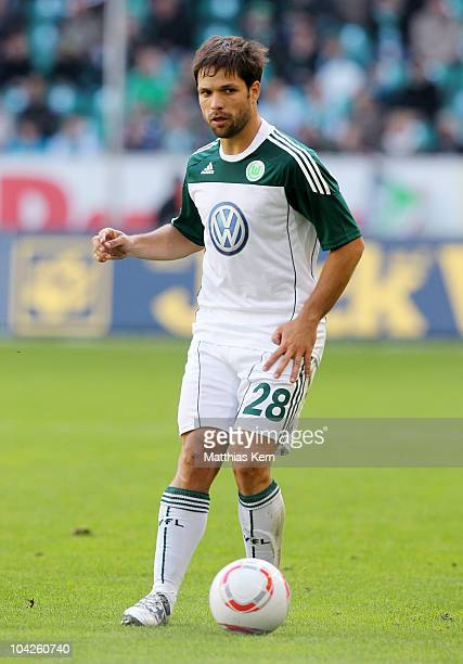 Diego Ribas da Cunha of Wolfsburg runs with the ball during the Bundesliga match between VFL Wolfsburg and Hannover 96 at Volkswagen Arena on...
