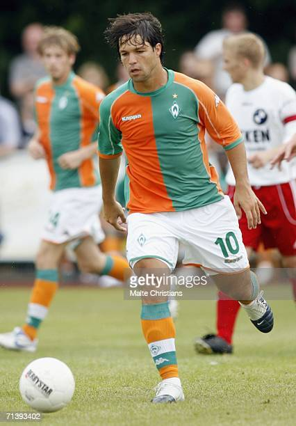 Diego Ribas De Cunha in action during the friendly match between Werder Bremen and TUS Pewsun on July 7 2006 at Norderney Island Germany