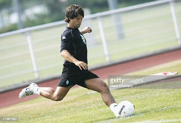 Diego Ribas De Cunha in action during the Werder Bremen training camp on July 07 2006 at Norderney Island Germany