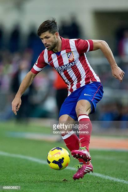 Diego Ribas of Atletico de Madrid controls the ball during the La Liga match between Club Atletico de Madrid and Real Sociedad de Futbol at Vicente...