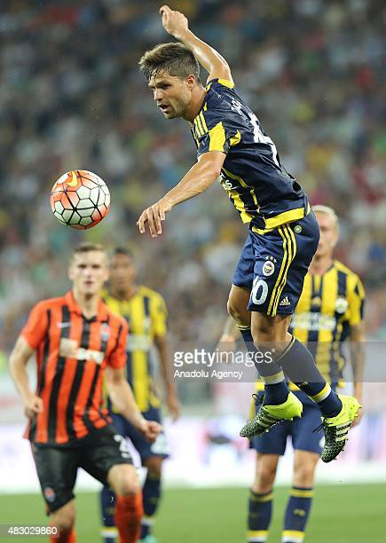 Diego Ribas of Fenerbahce in action during UEFA Champions League third qualifying round 2nd leg match between Shakhtar Donetsk and Fenerbahce at Lviv...