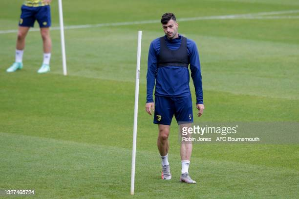 Diego Rico of Bournemouth during a pre-season training session at Vitality Stadium on July 07, 2021 in Bournemouth, England.