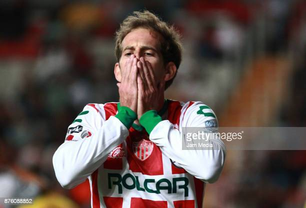 Diego Riolfo of Necaxa during the 17th round match between Morelia and Necaxa as part of the Torneo Apertura 2017 Liga MX at Victoria Stadium on...