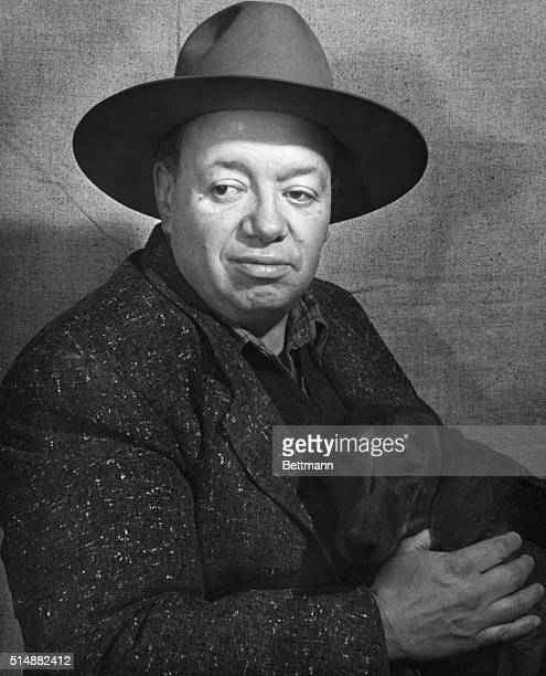 Diego Rivera Mexican painter famed and controversial muralist Photograph 1930's