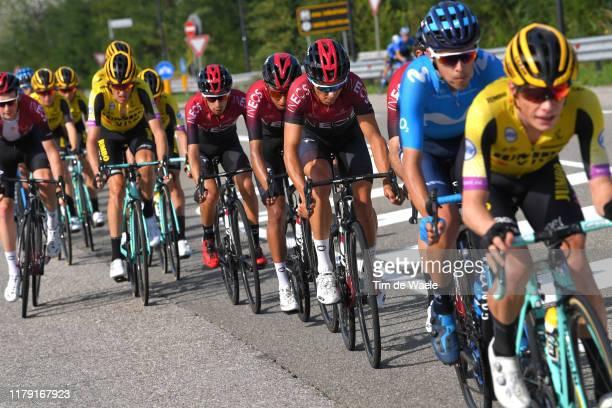 Diego Rosa of Italy and Team INEOS / Egan Bernal of Colombia and Team INEOS / Iván Ramiro Sosa of Colombia and Team INEOS / Peloton / during the...