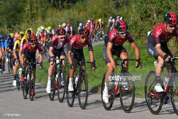 Diego Rosa of Italy and Team INEOS / Egan Bernal of Colombia and Team INEOS / Tao Geoghegan Hart of The United Kingdom and Team INEOS / Iván Ramiro...