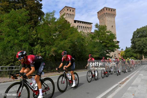 Diego Rosa of Italy and Team INEOS / Gianni Moscon of Italy and Team INEOS / Leonardo Basso of Italy and Team INEOS / Ivan Ramiro Sosa Cuervo of...