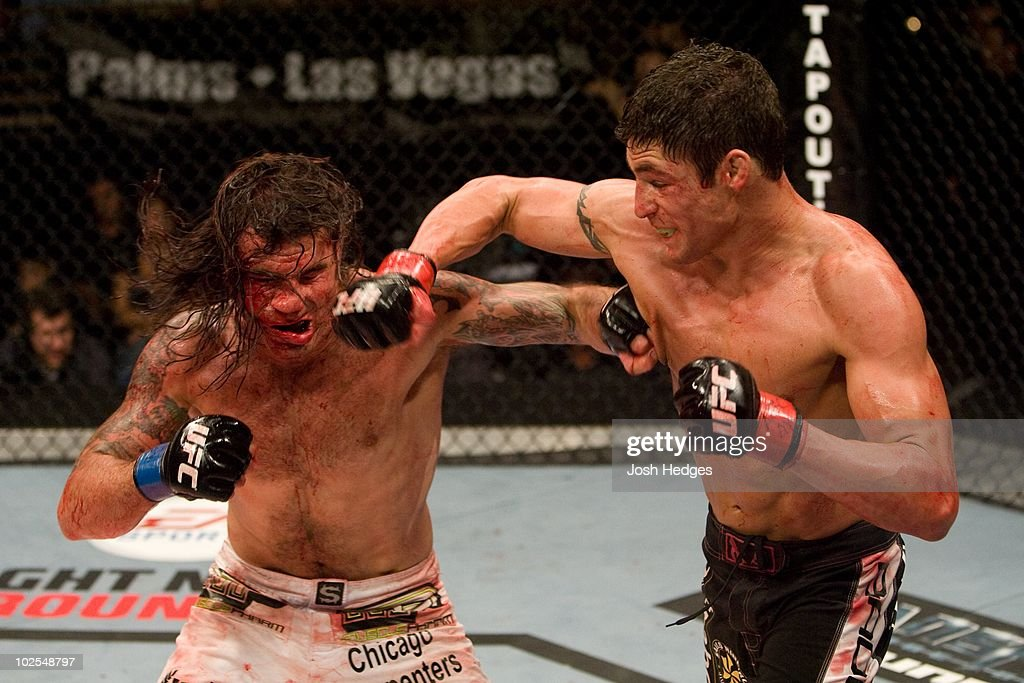 Diego Sanchez (black shorts) def. Clay Guida (white shorts) - Split Decision during The Ultimate Fighter 9 Finale at The Pearl at the Palms on June 20, 2009 in Las Vegas, Nevada.