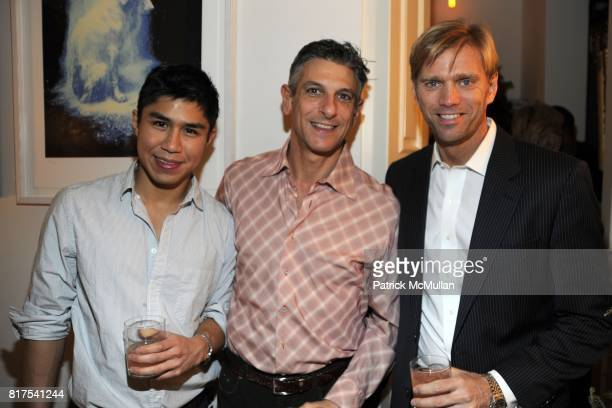 Diego Santiago Alan Slatas and Randy Florke attend ANDREW FRY and BRONSON VAN WYCK Host a Seven Swans A Swimming Holiday Party at Private Residence...