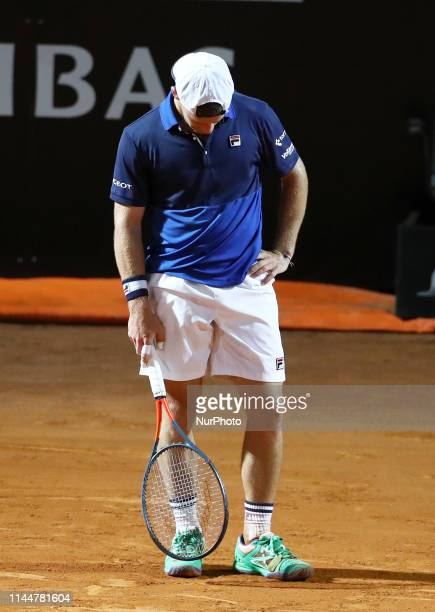 Diego Schwartzman dejection during the ATP Internazionali d'Italia BNL semifinal match at Foro Italico in Rome Italy on May 18 2019