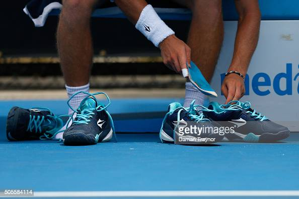 Diego Schwartzman Of Argentina Changes His Shoes In His First Round News Photo Getty Images