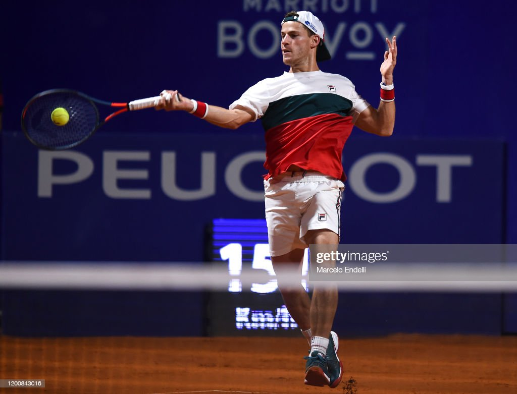Diego Schwartzman Of Argentina Hits A Forehand During His Men S News Photo Getty Images