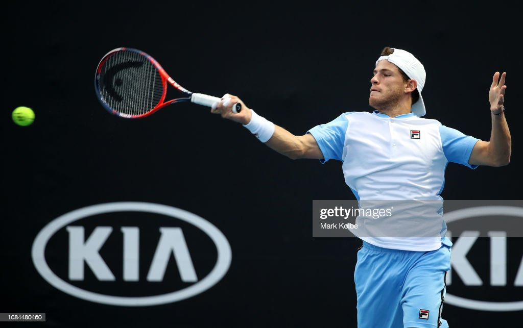 Diego Schwartzman Of Argentina Plays A Forehand In His First Round News Photo Getty Images