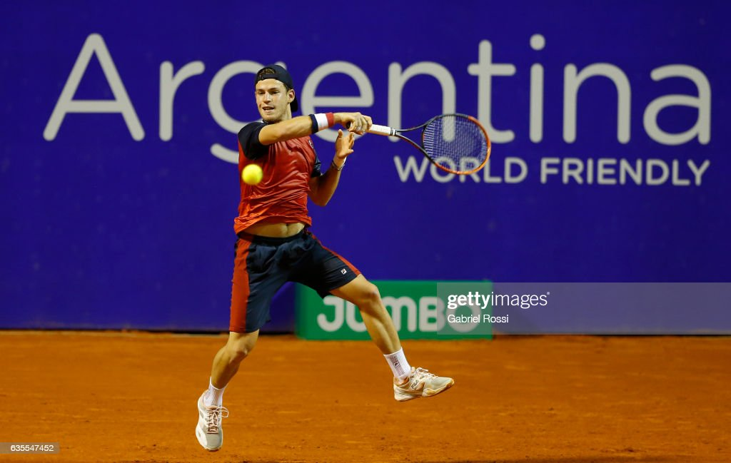 Kei Nishikori v Diego Schwartzman - ATP Argentina Open : News Photo