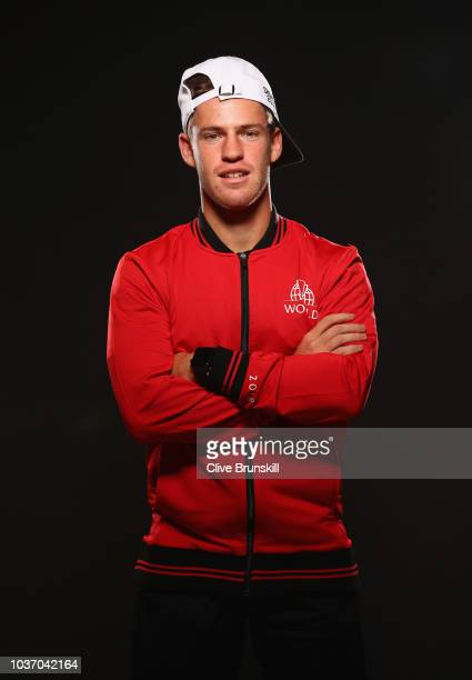 Diego Schwartzman of Team Rest of the World prior to the Laver Cup at the United Center on September 20 2018 in Chicago IllinoisThe Laver Cup...