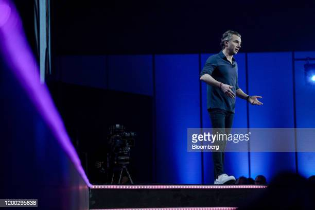 Diego Scotti chief marketing officer of Verizon Communications Inc speaks during the 2020 Makers Conference in Los Angeles California US on Tuesday...