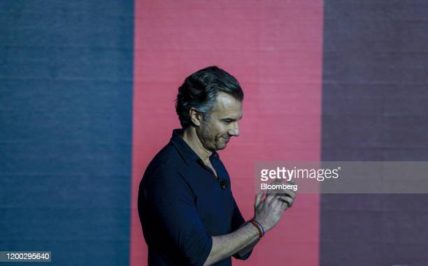 Diego Scotti chief marketing officer of Verizon Communications Inc applauds during the 2020 Makers Conference in Los Angeles California US on Tuesday...
