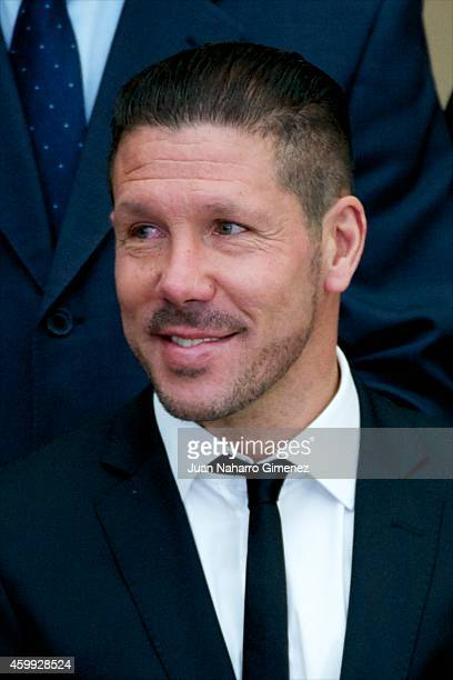 Diego Simeone attends National Sport Awards 2013 at Royal Palace of El Pardo on December 4 2014 in Madrid Spain