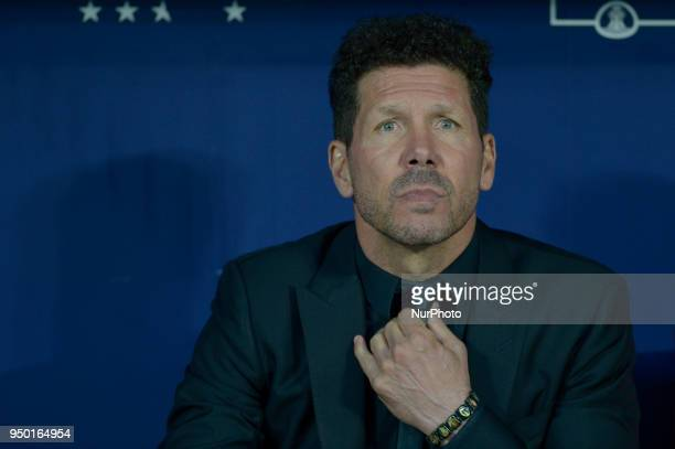 Diego Simeone coach of Atletico de Madrid during a match between Atletico de Madrid vs Betis for La Liga Española at Wanda Metropolitano Stadium on...