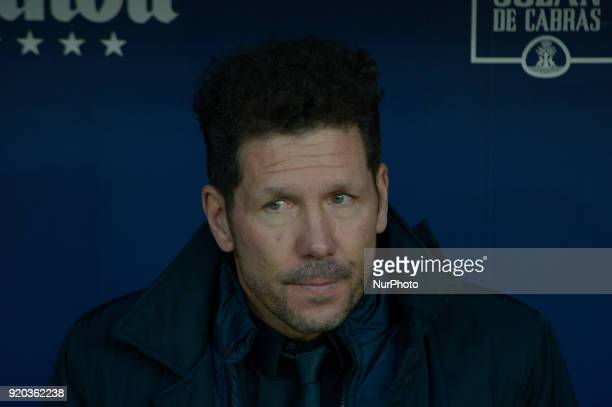 Diego Simeone coach of Atletico de Madrid during a match between Real Madrid and Athletic de Bilbao at Wanda Metropolitano Stadium on February 18...