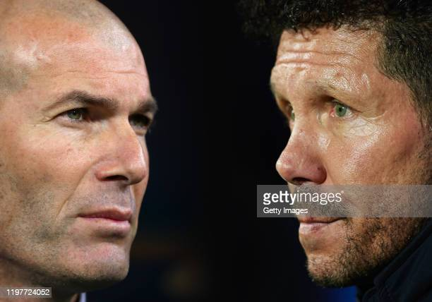 Diego Simeone head coach of Club Atletico de Madrid looks on during the Liga match between SD Eibar SAD and Club Atletico de Madrid at Ipurua...