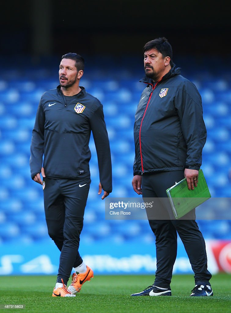 Diego Simeone the Club Atletico de Madrid coach takes the ...