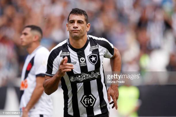 Diego Souza of Botafogo celebrates after scoring the opening goal during a match between Botafogo and Vasco da Gama as part of the Brasileirao Series...