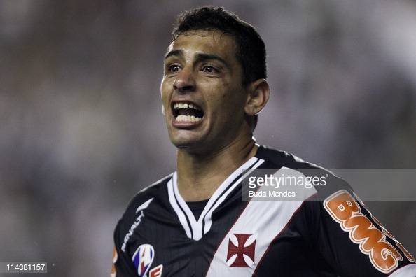 Diego Souza of Vasco celebrates scored goal during a match ...
