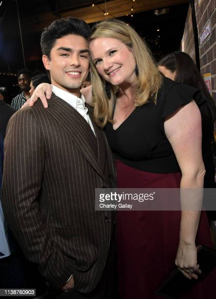 Diego Tinoco and Lauren Iungerich attend the 'On My Block' S2 Launch Event at Petty Cash Taqueria on March 27, 2019 in Los Angeles, California.