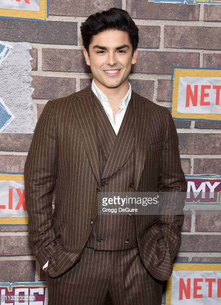 Diego Tinoco arrives at the Premiere Of Netflix's On My Block Season 2 at Petty Cash Taqueria on March 27 2019 in Los Angeles California