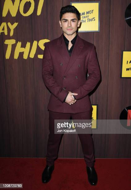 """Diego Tinoco attends Netflix's """"I Am Not Okay With This"""" Photocall at The London West Hollywood on February 25, 2020 in West Hollywood, California."""