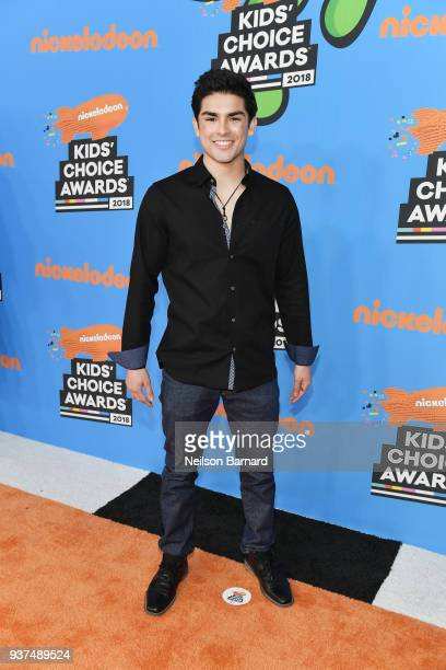 Diego Tinoco attends Nickelodeon's 2018 Kids' Choice Awards at The Forum on March 24, 2018 in Inglewood, California.