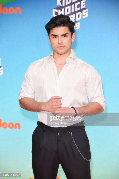 Diego Tinoco attends Nickelodeon's 2019 Kids' Choice Awards at Galen Center on March 23 2019 in Los Angeles California