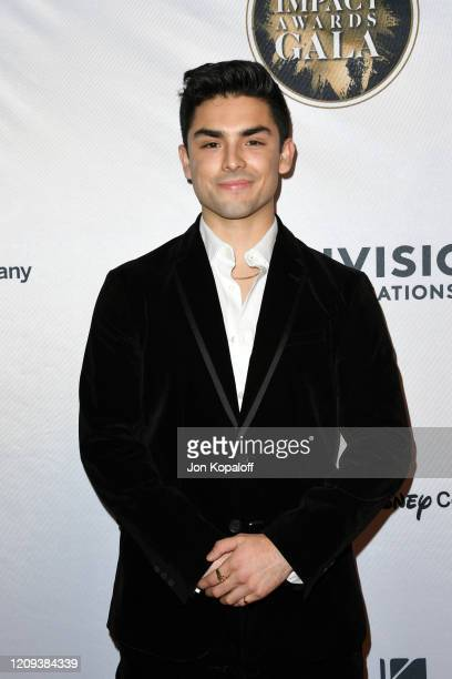 Diego Tinoco attends The National Hispanic Media Coalition's 2020 Impact Awards at the Beverly Wilshire Four Seasons Hotel on February 28, 2020 in...