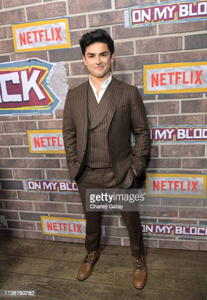 Diego Tinoco attends the 'On My Block' S2 Launch Event at Petty Cash Taqueria on March 27, 2019 in Los Angeles, California.
