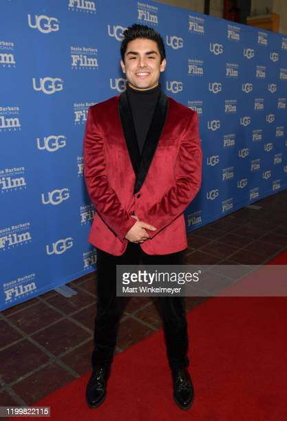 Diego Tinoco attends the Opening Night Film 'A Bump Along The Way' during the 35th Santa Barbara International Film Festival at Arlington Theatre on...