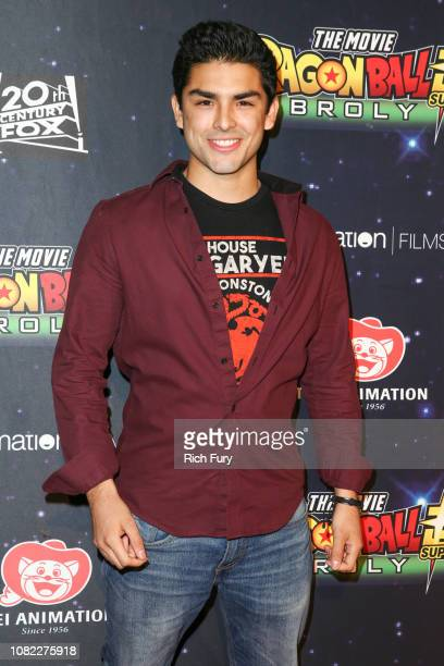 Diego Tinoco attends the premiere of 'Dragon Ball Super: Broly' at TCL Chinese Theatre on December 13, 2018 in Hollywood, California.