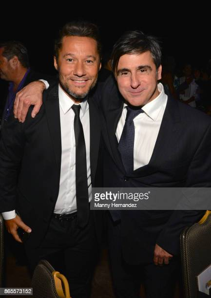 Diego Torres and Afo Verde at the 5th Annual Latin Songwriters Hall Of Fame's La Musa Award at James L Knight Center on October 19 2017 in Miami...