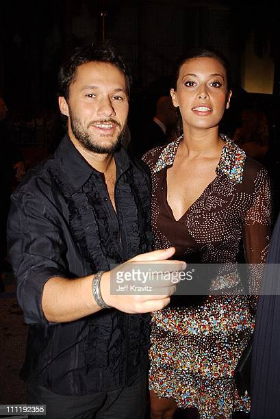 Diego Torres and Angie Cepeda during MTV Video Music Awards Latinoamerica 2002 Arrivals at Jackie Gleason Theater in Miami FL United States