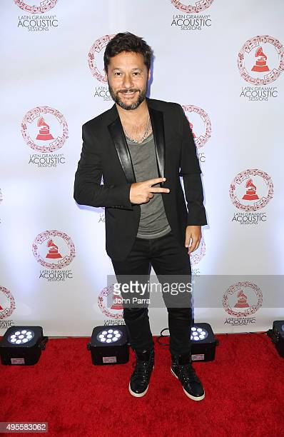 Diego Torres arrives at the Latin GRAMMY Acoustic Session Miami with Diego Torres at New World Center on November 3 2015 in Miami Beach Florida