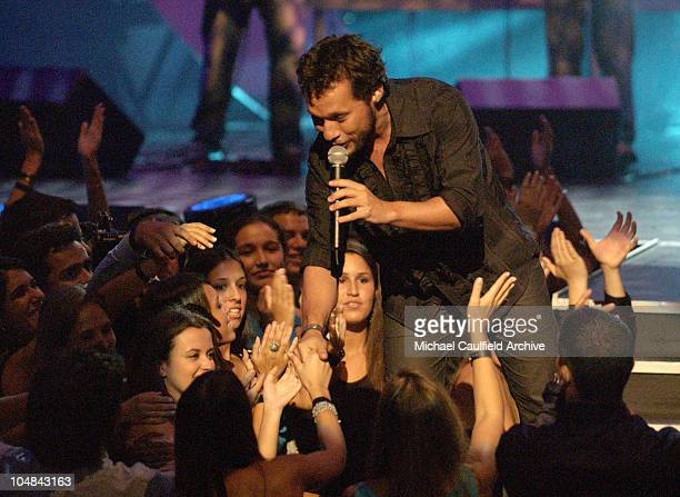 Diego Torres during MTV Music Video Awards Latinoamerica 2002 Show at Jackie Gleason Theater Miami in Miami Florida United States