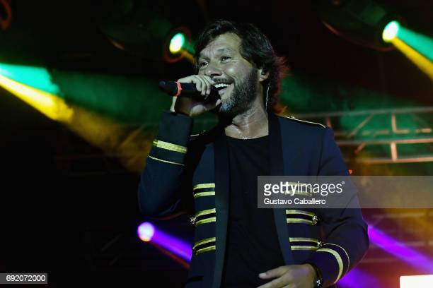 Diego Torres performs at the Miami Fashion Week Bash at Ice Palace Film Studios on June 3 2017 in Miami Florida