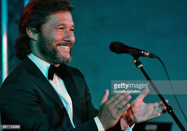 Diego Torres performs at the Miami Fashion Week Benefit Gala at Dupont Building on June 2 2017 in Miami Florida