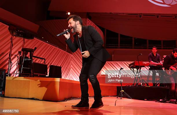 Diego Torres performs during the Latin GRAMMY Acoustic Sessions Miami with Diego Torres at New World Center on November 3 2015 in Miami Beach Florida