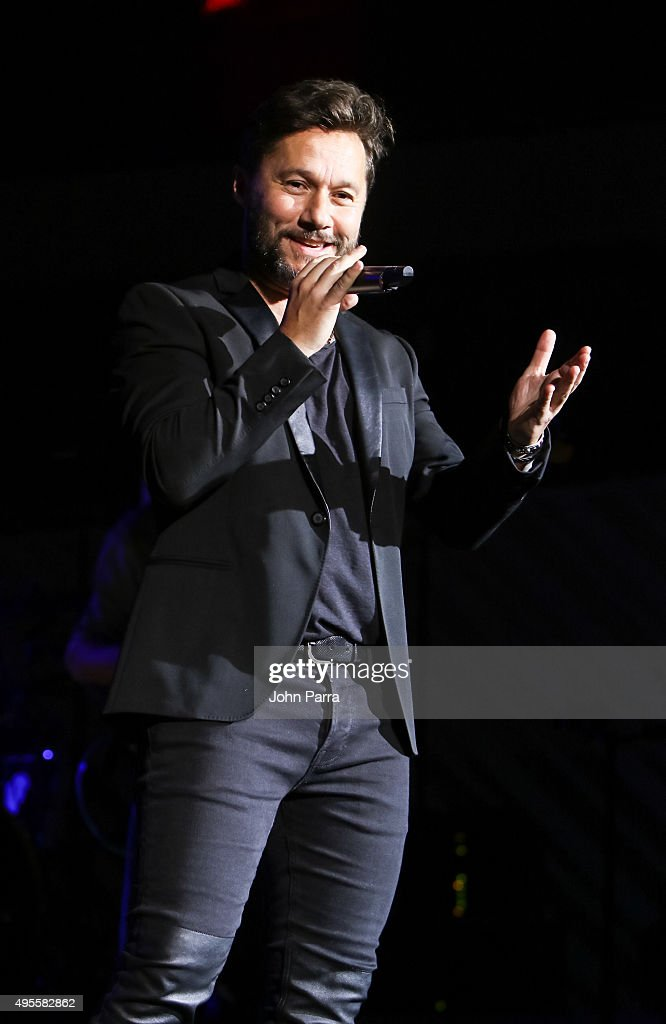 Diego Torres performs during the Latin GRAMMY Acoustic Sessions Miami with Diego Torres at New World Center on November 3, 2015 in Miami Beach, Florida.