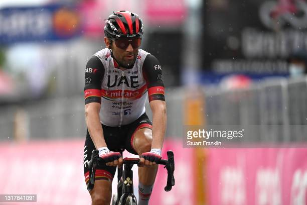 Diego Ulissi of Italy and UAE Team Emirates at arrival during the 104th Giro d'Italia 2021, Stage 6 a 160km stage from Grotte di Frasassi to Ascoli...